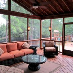 Wonderful Screened In Porch And Deck Idea 14