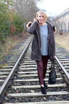 A fashion Blog for women over 40 and mature women  Parka: True Religio  Sweater: Dorothee Schumacher Leather-Leggings: Helmut Lang