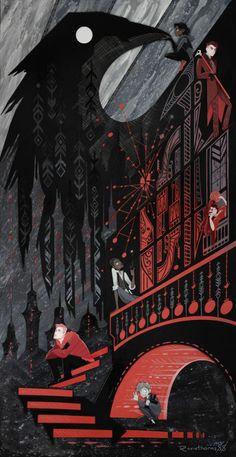 by Rosiethorns - Six of Crows Fan Art, Six of Crows Paper Art, Inej Gafa, Kaz Brekker Crooked Kingdom, The Grisha Trilogy, Art Manga, Fanart, Book Characters, Six Of Crows Characters, Book Fandoms, Dark Art, Art Inspo