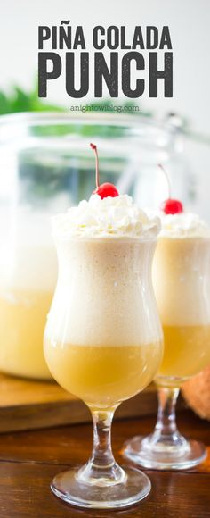 If you love Piña Coladas...then you're going to love this Piña Colada Punch! An easy to make batch cocktail, it's perfect for parties!