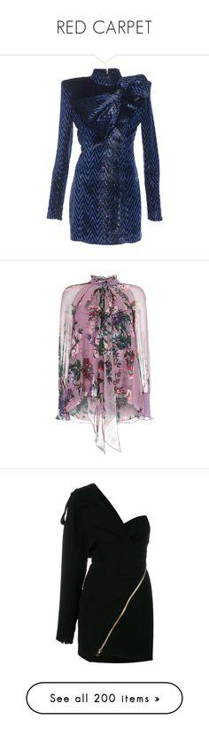 """RED CARPET"" by itscoralie ❤ liked on Polyvore featuring dresses, embelished dress, mock neck dress, embellished mini dress, embellished dress, mini dress, purple dresses, erdem, erdem dress and bow neck dress"