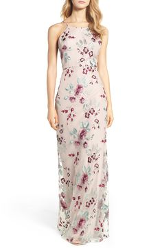 Main Image - Jenny Yoo Claire Floral Embroidered Gown