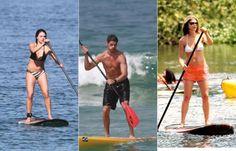 Stand up Paddle: esporte que conquistou os famosos queima até 350 calorias por hora -- O SUP trabalha todo o sistema cardiovascular, tonifica a musculatura de membros inferiores e superiores