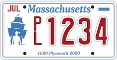 This special plate has been proposed to commemorate the upcoming 400th anniversary of Plymouth, Massachusetts.