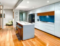 Caesarstone wild rice 4360 with ogee edge large island for Kitchen designs gold coast