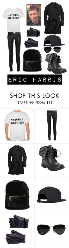 """""""Eric Harris"""" by doctor-who-noob ❤ liked on Polyvore featuring Yves Saint Laurent, Coach, Les Cinq and Ray-Ban"""