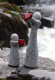 unique raku figures by MartinONeillceramics on Etsy, £19.50