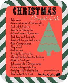 Our Christmas bucket list for 2015! #christmasonabudget #christmaswithlittleones #parentingwithhumility