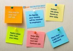 Looking for SAP Consultans, Apply your next SAP Contract job @ www.saprecruiterdaily.com