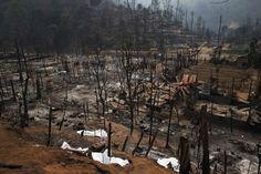 March 23, 2013. Body bags cover charred bodies of victims of a fire at the burnt Ban Mae Surin refugee camp near Mae Hong Son. At least 42 people have died in a fire at a camp which is home to thousands of refugees from Myanmar near the Thai-Myanmar border on Friday, local media reported.