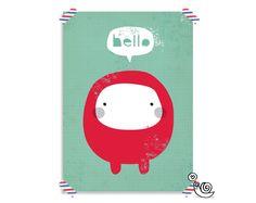 Cutie Poster  Beperkte Oplage van snailmailshop op Etsy, €10,00