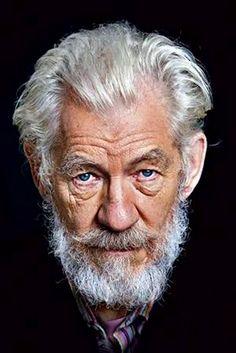 Sir Ian McKellen - really great portrait.
