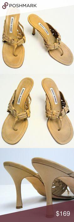 Manolo Blahnik High Hells Nude Color Sandal Preloved condition. Manolo Blahnik Shoes Sandals