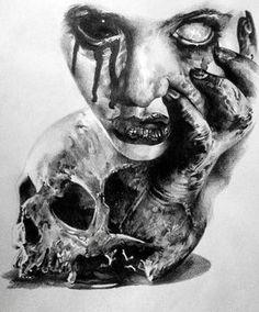 Tattoos Discover skizzieren Horror-Par stephane bueno tatoueur Studio schwarz Ecke Tätowierung V. Evil Skull Tattoo, Evil Tattoos, Creepy Tattoos, Skull Tattoo Design, Demon Tattoo, Horror Tattoos, Tattoo Designs, Samurai Tattoo, Mädchen Tattoo