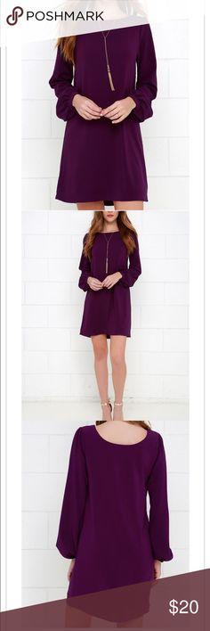 Dark purple dress Dark purple/burgundy dress. Sleeve are puffy at the end. NWOT never worn Dresses