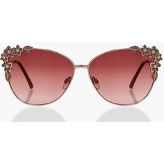 Boohoo Bethany Floral Frame Cat Eye Sunglasses ($14) ❤ liked on Polyvore featuring accessories, eyewear, sunglasses, over sized sunglasses, floral print sunglasses, cateye sunglasses, oversized glasses and cat eye sunglasses