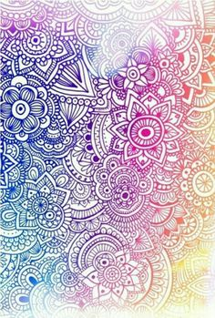 Very colorful kinda doodle like