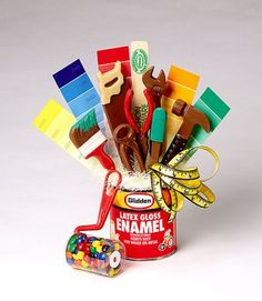 Creative Chocolates of Vermont, Inc. - Glidden Paint Can and Tools