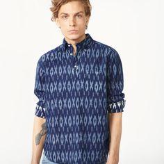 GANT Rugger - Indigo Mikado Shirt Dark Indigo for Men's | Official Site