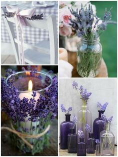 www.weddbook.com everything about wedding ♥ Country wedding ideas. #rustic #lavender #country #craft | Weddbook ♥ Lavantalarla dugun dekorasyonu.