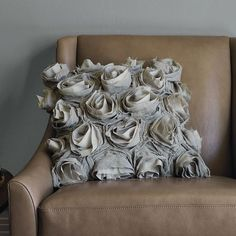 West Elm's Deconstructed Rose Pillow Cover in Platinum. Also fab in white!
