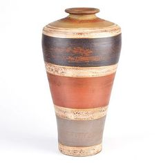 Kirkland's: Distressed Striped Terracotta Vase