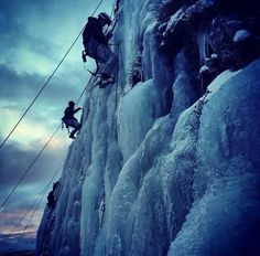 Swedish Army Rangers (Fallskärmsjägarna) during a mountain warfare exercise. Ranger School, Swedish Army, Ice Climbing, Special Forces, Climbers, Troops, Military, Facts, World