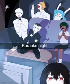 Tokyo Ghoul snapchat Karaoke with CCG - Juuzou , Arima , the Quinx....and Urie.