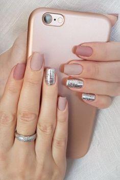 Perfect Nails, Gorgeous Nails, Matte Nails, Glitter Nails, Silver Glitter, Acrylic Nails, Glitter Art, Sparkle Nails, Silver Nail