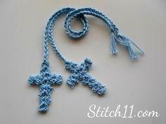 Free Crochet Cross Bookmark - link to free pattern Crochet Flower Patterns, Crochet Motif, Love Crochet, Crochet Flowers, Pattern Flower, Crochet Coaster, Doily Patterns, Doilies Crochet, Crocheted Lace