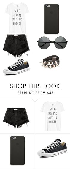 """""""Untitled #85"""" by karenrodriguez-iv on Polyvore featuring Abercrombie & Fitch, Zoe Karssen, Black Apple, Converse, women's clothing, women, female, woman, misses and juniors"""