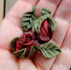 Deep Red Flower Bud Beads | Flickr - Photo Sharing!