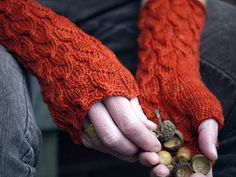 fallberry mitts by anne hanson free knitting pattern on knitty