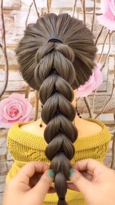 Braided Hairstyles Tutorials, Easy Hairstyles For Long Hair, Braids For Long Hair, Cute Hairstyles, Beautiful Hairstyles, Party Hairstyles, Braid Hair, Hairstyle Braid, Black Hairstyles