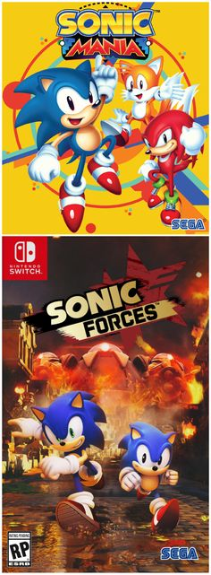 Sonic Mania & Sonic Forces. Both will be available on Nintendo Switch, PC, Xbox One, and PS4.