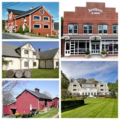 10 Things to do in Rural Litchfield County, CT. Pictured clockwise from top left: Hopkins Vineyard, Arethusa Al Tovolo; The Mayflower Grace;
