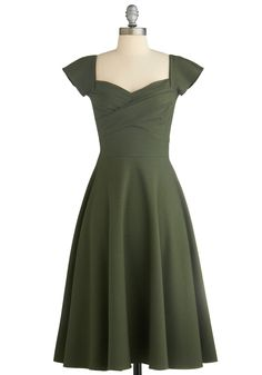 Pine All Mine Dress in Evergreen. This item was picked by you in our Be the Buyer Program and will be sold exclusively online at ModCloth! #green #modcloth