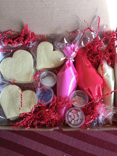 Cookie Decorating Kit Valentines Day by TheArtfulBaker. We provide the cookies, frosting and sprinkles. You have all the fun!