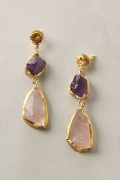 Gold RIng with 4 Diamonds Jewelry Box, Jewelry Accessories, Jewelry Design, Jewellery, 4 Diamonds, Hippy Chic, Gemstone Earrings, Purple Earrings, Crystal Jewelry