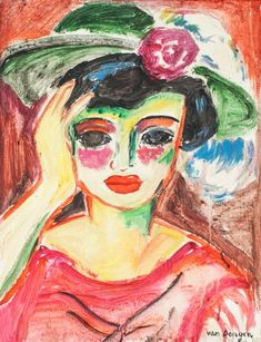 Artwork by Kees van Dongen, Portrait, Made of Oil on canvas