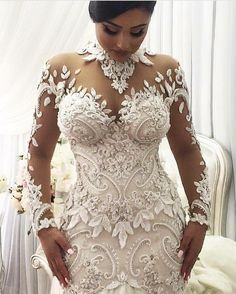 The detail on this long sleeve weddi g goqn is increadible. We have many brides who love haute couture #weddingdresses but are on a lower budget. So we can help by making #replicaweddingdresses that look like a couture original but is a fraction of the cost. We can work from any picture you have at www.dariuscordell.com