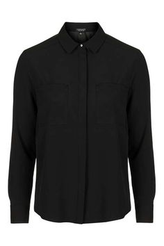Long Sleeve Fitted Shirt - Topshop