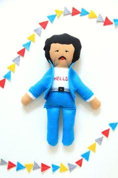 Little Lionel Richie 80's Retro Doll / Plush Doll by FeltedFoxShop