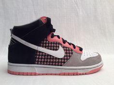 Nike DUNK HIGH 6.0 Womens Size 10 White Black Pink Grey #Nike #AthleticShoes