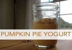 Pumpkin Pie Yogurt |