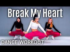 [Dance Workout] Dua Lipa - Break My Heart Zumba Fitness, Dance Fitness, Break My Heart, Cardio Dance, Dance Lessons, Dance Studio, My Heart Is Breaking, Music Publishing, At Home Workouts