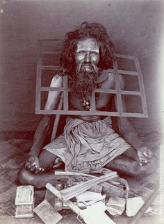 An Indian ascetic wearing an iron collar, circa 1870. (Photo by Hulton Archive/Getty Images)