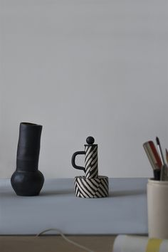 Striped vessels.