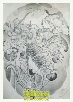 350+ Những hình xăm cá chép đẹp nhất - Tattoo Cá Chép Carp Tattoo, Koi Fish Tattoo, Fish Tattoos, Thai Tattoo, Tattoo Man, Koi Tattoo Design, Full Body Tattoo, Full Sleeve Tattoos, Graffiti Tattoo