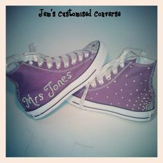 Customised Bride Wedding Converse Available in all sizes, colours and designs x